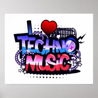 Mig hjärtaTechno musik Affischer