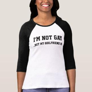 Mig inte glad förmiddag (bara min flickvän är), t shirts