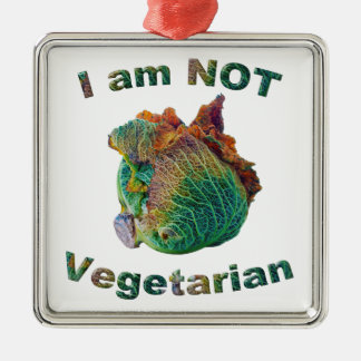 Mig inte vegetarisk förmiddag julgransprydnad metall