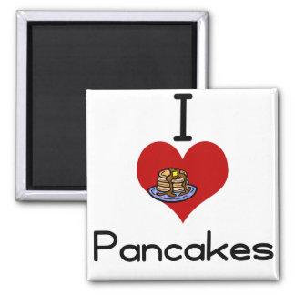 Mig kärlek-hjärta pannkakor magnet