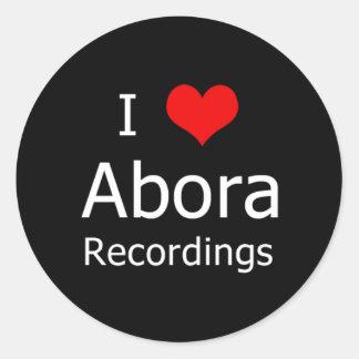 Mig klistermärke för runda för ♥Abora inspelningar