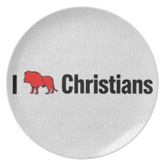 Mig lejona kristen tallrik