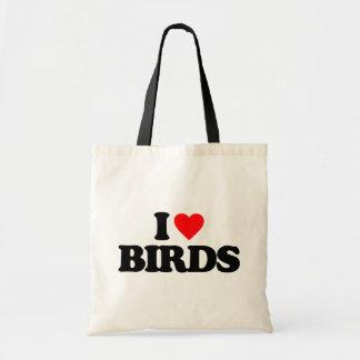 MIG LOVE BIRDS TOTE BAGS