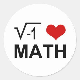 Mig Math <3 Runt Klistermärke