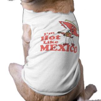 Mig Mexico för förmiddaghettnågot liknande T-tröja Husdjurströja