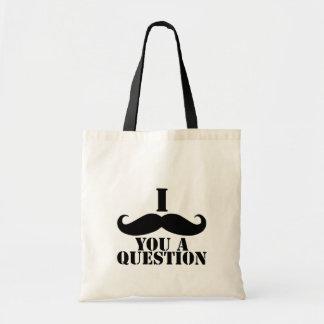 Mig Moustache dig en ifrågasätta Tygkasse