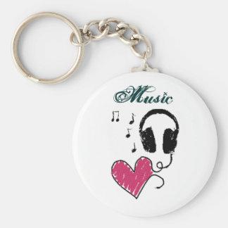 mig musik <3 rund nyckelring