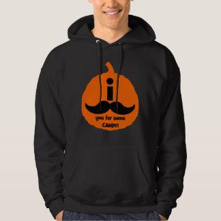 Mig mustasch dig för någon godis sweatshirt med luva