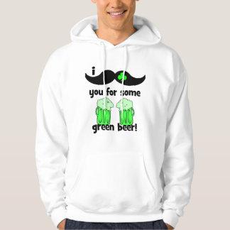 Mig mustasch dig för något gröntöl! hoodie