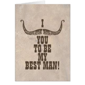 Mig mustasch dig som är min bäst man OBS kort