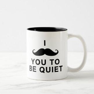 Mig mustasch dig som är tyst Två-Tonad mugg