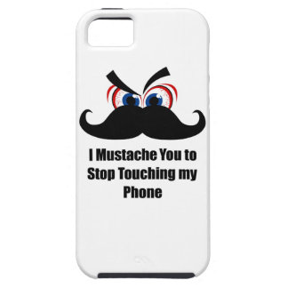 Mig mustasch dig som stoppar röra min telefon iPhone 5 Case-Mate skydd