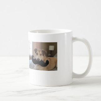 Mig mustasch för en kopp av kaffe vit mugg