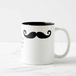 Mig mustasch Två-Tonad mugg