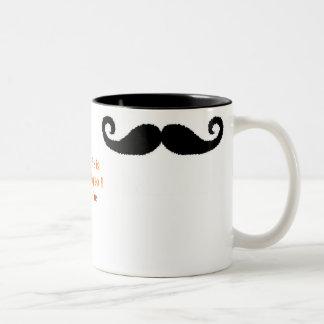 Mig mustasch… Två-Tonad mugg