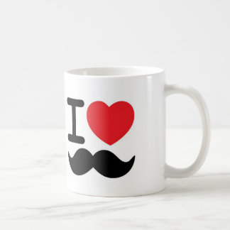 Mig mustascher <3 vit mugg