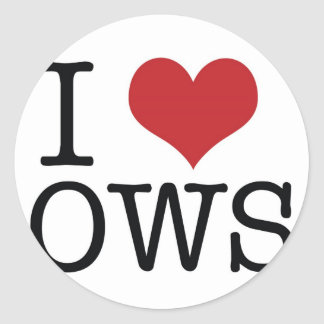 Mig occupy wall street klistermärke för hjärta