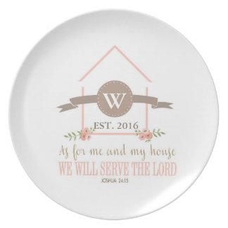 Mig och mitt hus, scripture, initial familj tallrik