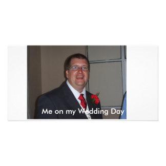 Mig på min bröllopsdag fotokort