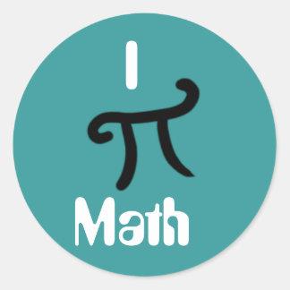 Mig pi-math, kärlek för nerds runt klistermärke