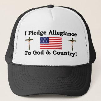 Mig Plege trohet till guden & land Truckerkeps