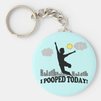 Mig Pooped i dag Rund Nyckelring