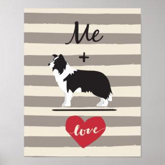 Mig positivt papper för affisch för kärlek för
