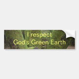 Mig respektgud gröna jord bildekal