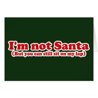 Mig Santa för förmiddag inte rolig jul Hälsningskort
