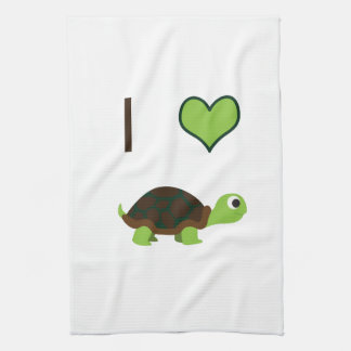 Mig sköldpaddor för hjärta (kärlek) kökshandduk