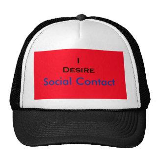 Mig social kontakt för lust mesh kepsar