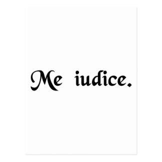 Mig som är domare vykort