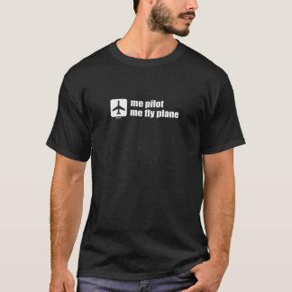 mig som är pilot- mig klipskt flygplan t-shirts