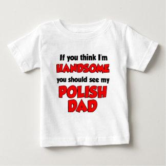 Mig stilig polsk pappa för förmiddag t shirt