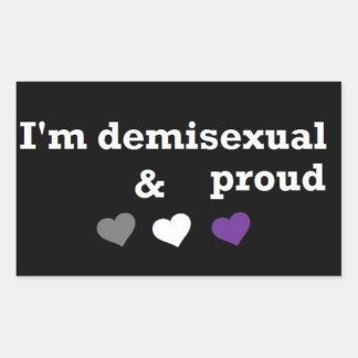 Mig stolt förmiddag som är demisexual & rektangulärt klistermärke