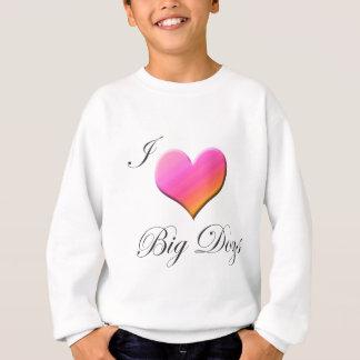 Mig stora hundar för hjärta tee shirt