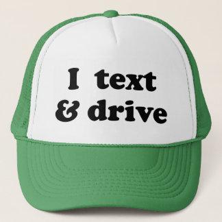 Mig text & drev truckerkeps
