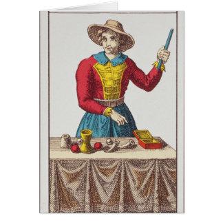 Mig trollkarlen, sju tarotkort hälsningskort