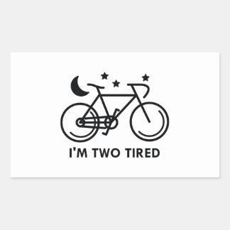 Mig tröttad förmiddag två rektangulärt klistermärke