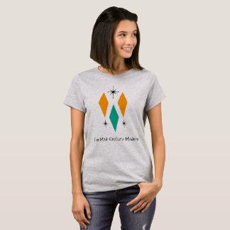 Mig turkos för orange för diamanter för mitt- tshirts