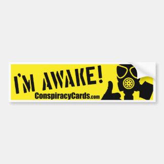 Mig vaken förmiddag!  ConspiracyCards.com bildekal