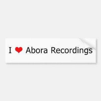 Mig vit 1 för bildekal för ♥Abora inspelningar