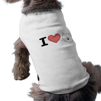 Mig westies (för hjärta) hundtröja