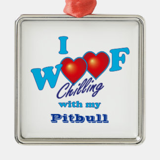 Mig Woof Pitbull Julgransprydnad Metall