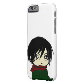 Mikasa Ackerman Chibi mobilt fodral Barely There iPhone 6 Fodral