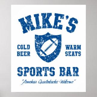 Mikes affisch för personlig för sportpub poster