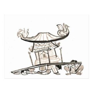 Mikoshi relikskriner är skurkrollen vykort