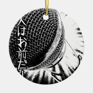 Mikrofon för Retro musik för 80-tal för Tokyo Julgransprydnad Keramik
