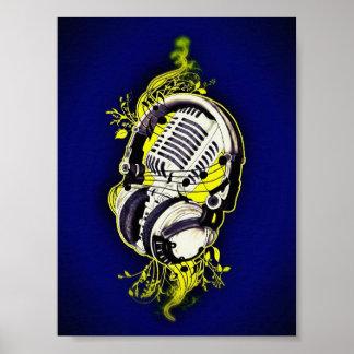 Mikrofon & hörlurar med mikrofon poster