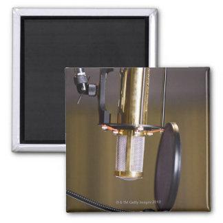 Mikrofon i studio magnet